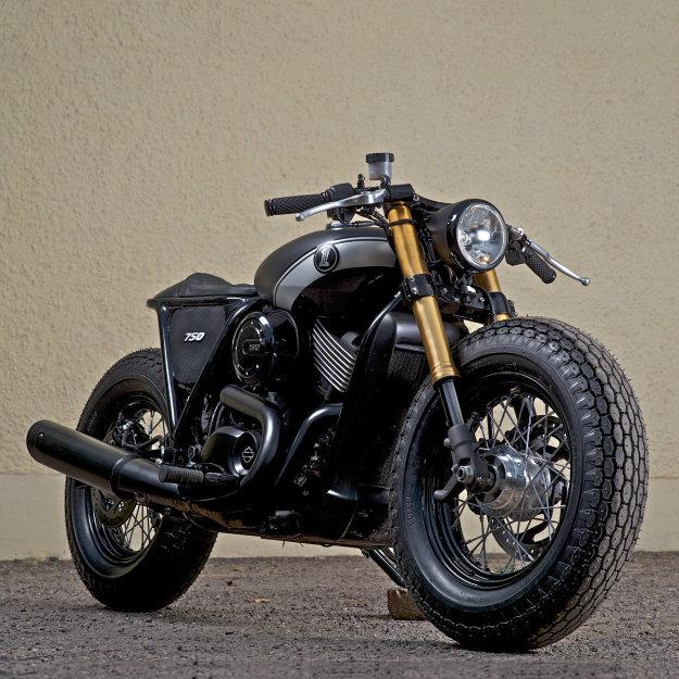 custom harley davidson 750 motorcycle melee. Black Bedroom Furniture Sets. Home Design Ideas