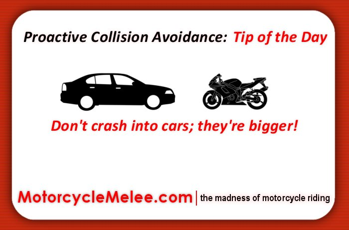 Proactive Collision Avoidance Tip of the Day – Don't Crash Into Cars