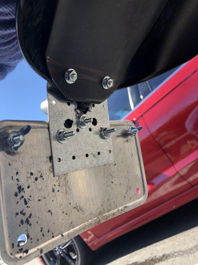 2018 Street Twin - Custom License Plate Bracket - Under Fender View